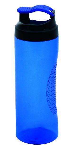 Trinkflasche Vitality 450 ml Transparent / Blau | Siebdruck, 3-farbig