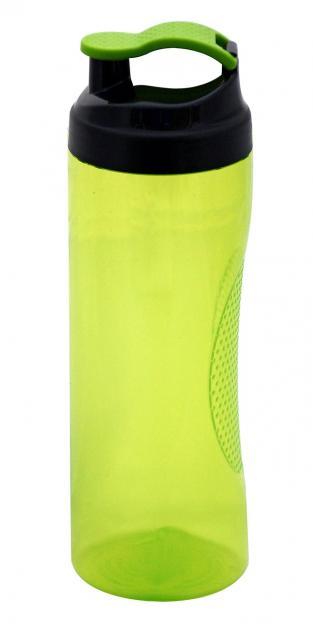 Trinkflasche Vitality 450 ml Transparent / Lime-Grün | Unbedruckt
