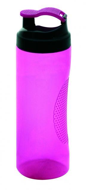 Trinkflasche Vitality 450 ml Transparent / Magenta   Siebdruck, 3-farbig