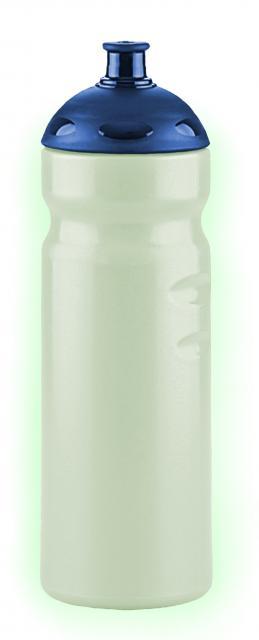 Nachleuchtende  Trinkflaschen 750 ml blau | Siebdruck, 1-farbig