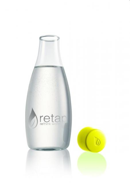 "Glasflasche ""Retap 500 ml lime | Digitaldruck"