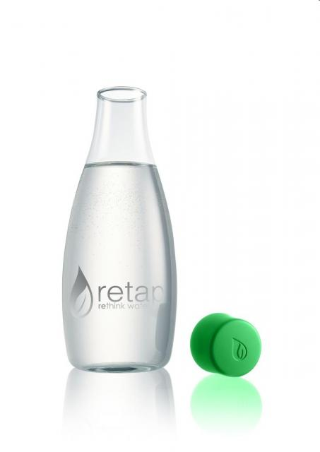 "Glasflasche ""Retap 500 ml green   Unbedruckt"