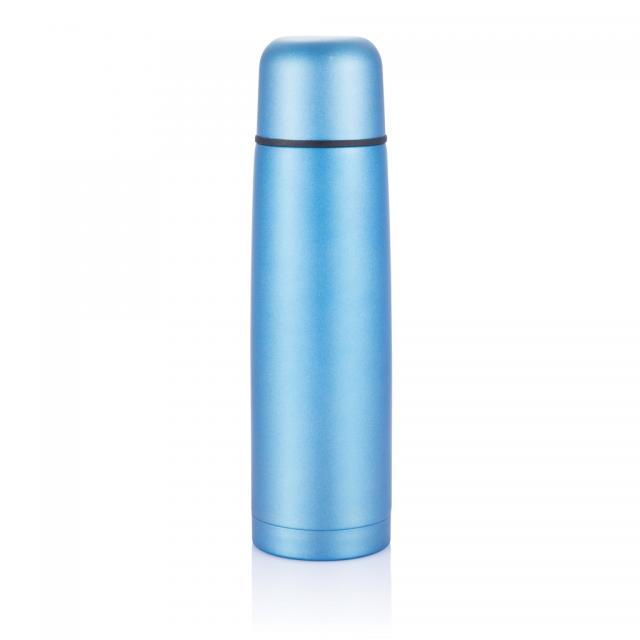 Isolierflasche Mono blau | Gravur