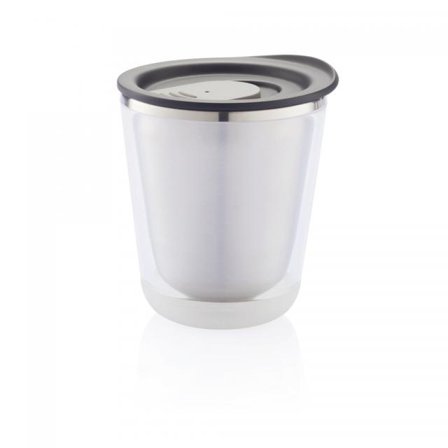 Dia Becher schwarz, grau | Tampondruck, 1-farbig