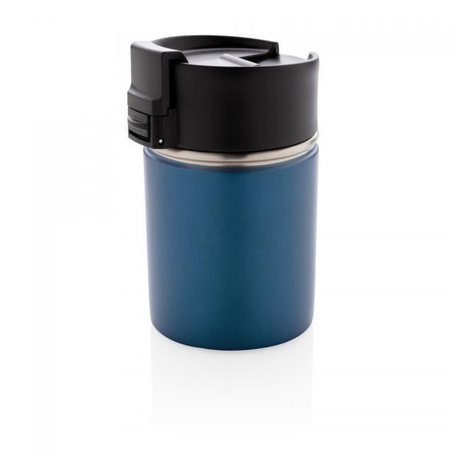 Bogota kompakter Vakuumbecher mit Keramikbeschichtung blau | Unbedruckt