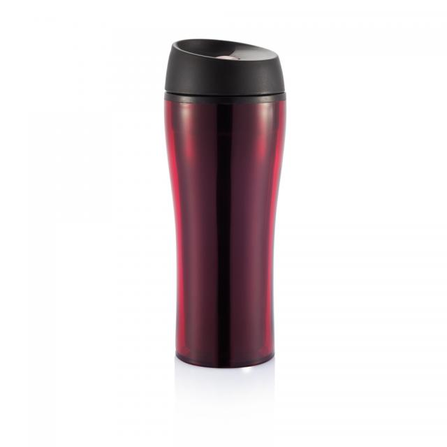 Shake-It Easy Kunststoffbecher rot, schwarz | Unbedruckt