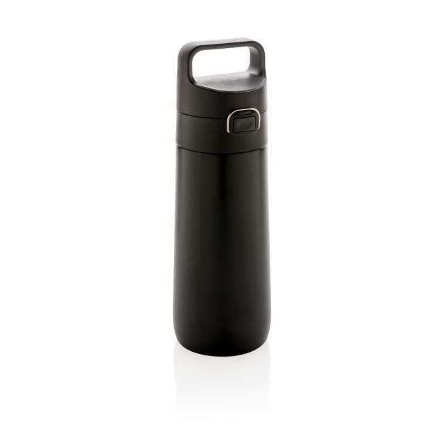 Hydrate auslaufsichere Vakuumflasche schwarz, grau | Digitaldruck