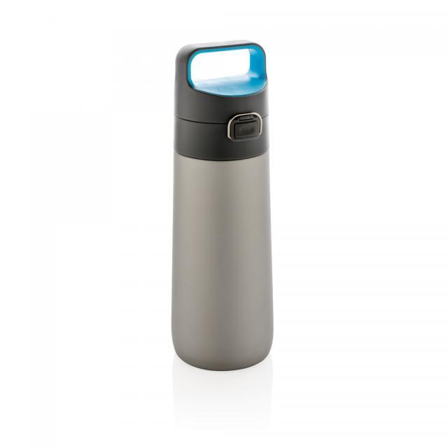 Hydrate auslaufsichere Vakuumflasche grau, blau   Unbedruckt