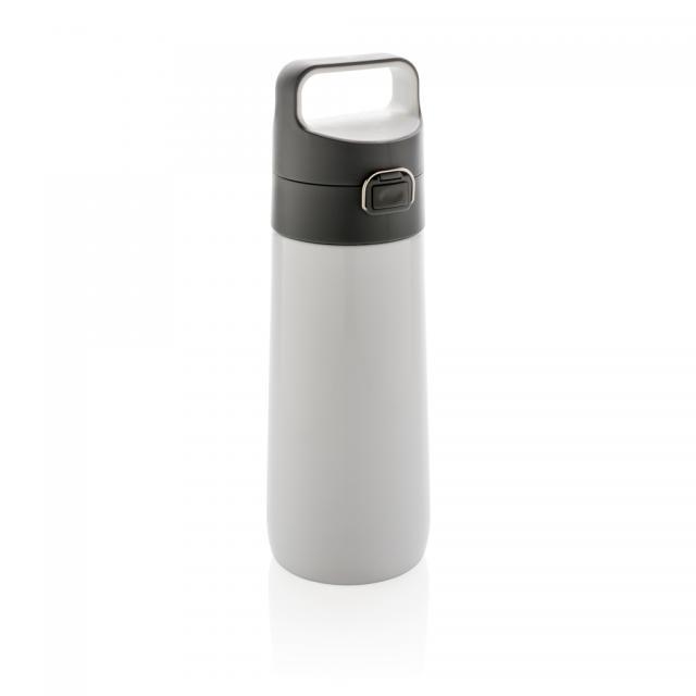 Hydrate auslaufsichere Vakuumflasche weiß | Unbedruckt