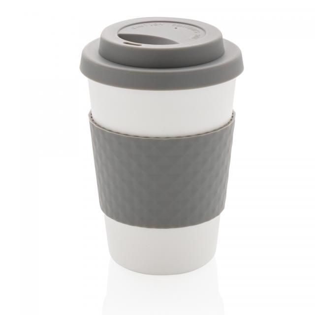 Wiederverwendbarer Kaffeebecher 270ml grau | Unbedruckt