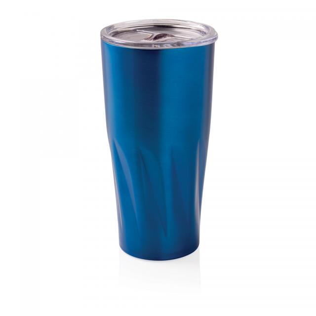 Kupfer-Vakuum Isolierbecher blau | Gravur