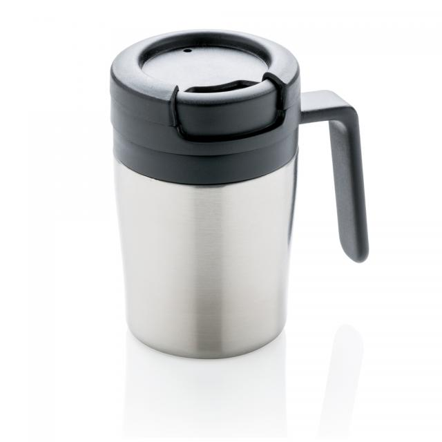 Coffee to go Tasse silber | Gravur