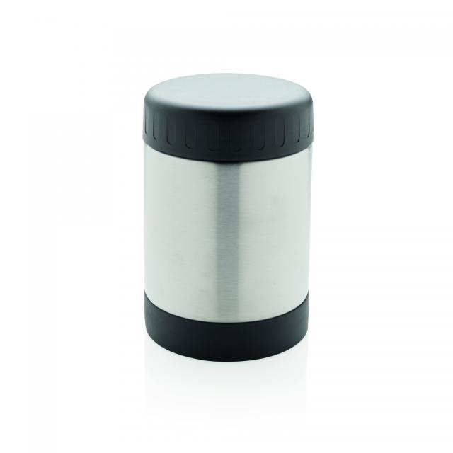 Vakuum-Food-Container silber, schwarz | Digitaldruck