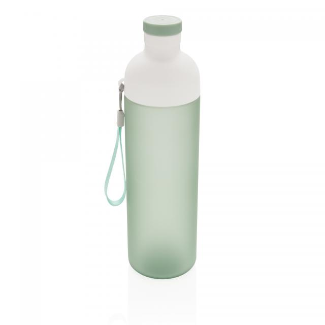 Impact auslaufsichere Tritan-Flasche grün, weiß   Tampondruck, 1-farbig
