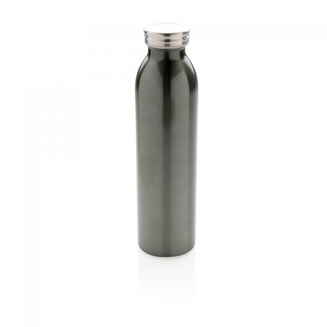 Auslaufgeschützte Kupfer-Vakuum-Flasche grau | Digitaldruck