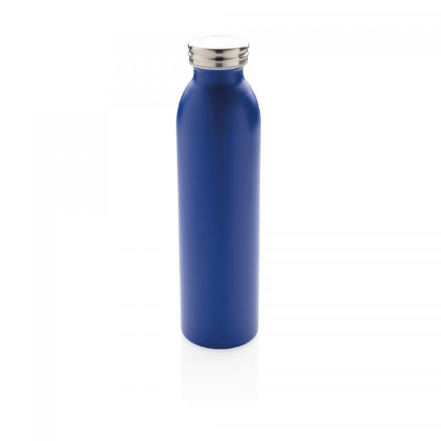 Auslaufgeschützte Kupfer-Vakuum-Flasche blau | Unbedruckt