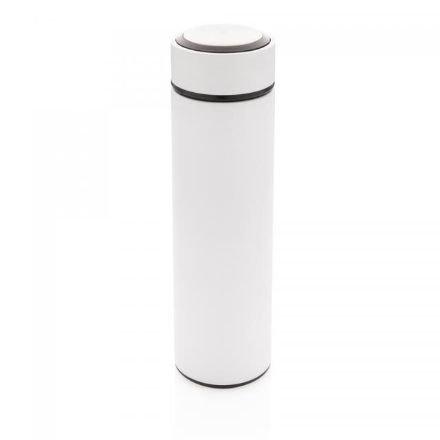 Vakuum Stainless Steel Flasche mit gebürstetem Metalldeckel weiß, weiß | Unbedruckt