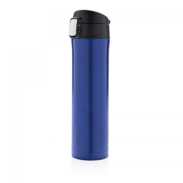 Easy Lock Vakuum Flasche blau, schwarz | Unbedruckt