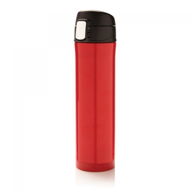 Easy Lock Vakuum Flasche rot, schwarz | Unbedruckt