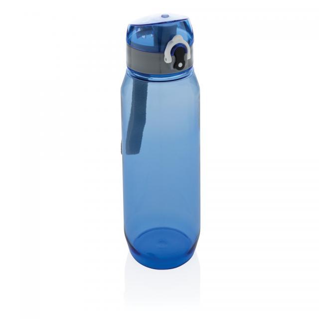 Tritan Flasche XL 800ml blau, grau | Siebdruck, 1-farbig