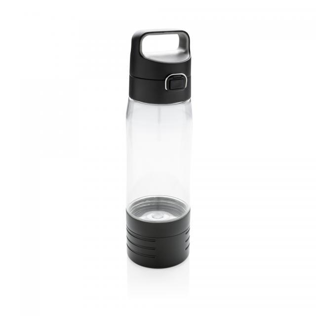 Hydrate Flasche mit True Wireless Kopfhörern transparent | Unbedruckt