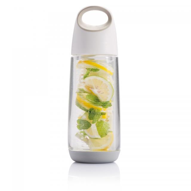 Bopp Fruit Flasche mit Aromafach weiß, grau | Tampondruck, 1-farbig