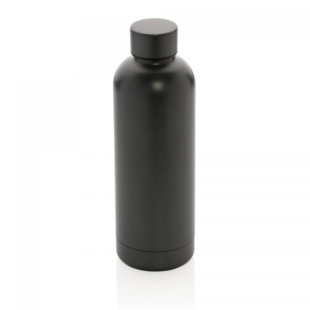 Impact doppelwandige Stainless Steel Vakuum-Flasche grau | Gravur