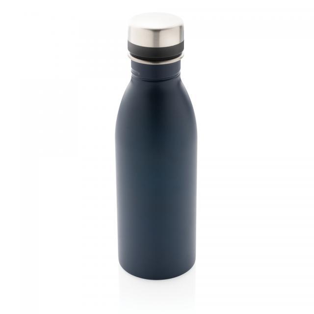 Deluxe Wasserflasche navy blau | Unbedruckt