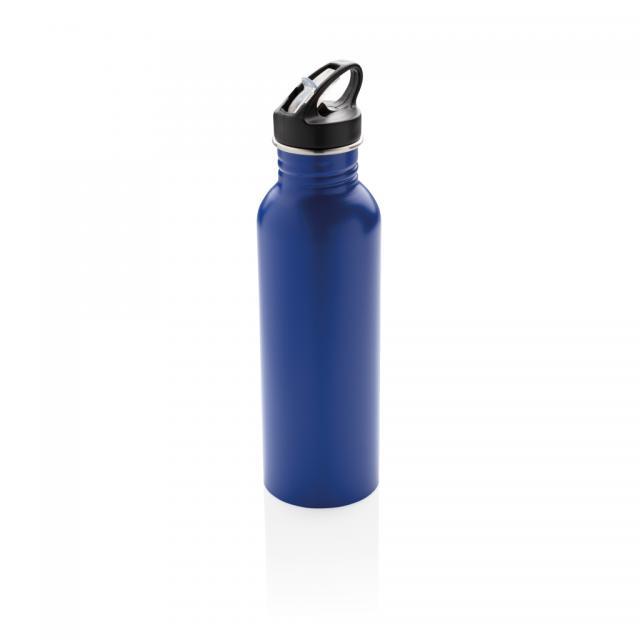 Deluxe Sportflasche aus Edelstahl blau | Gravur