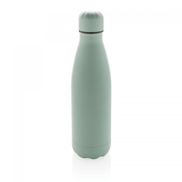 Einfarbige Vakuumisolierte Stainless Steel Flasche grün | Gravur