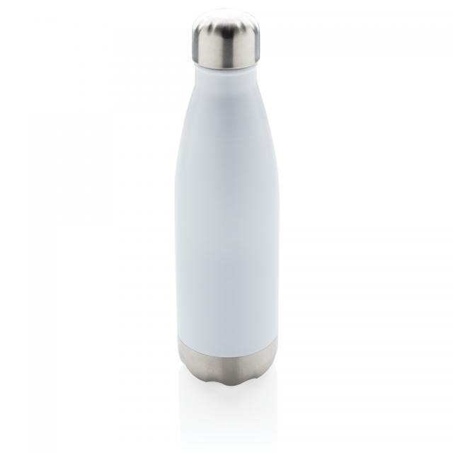 Vakuumisolierte Stainless Steel Flasche weiß | Siebdruck, 1-farbig