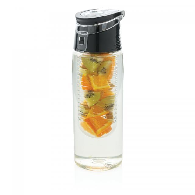 Verschließbare Aromaflasche transparent, grau | Unbedruckt