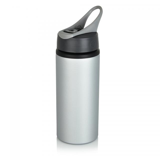 Aluminium Sportflasche grau, grau | Digitaldruck