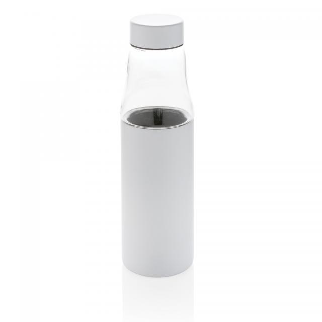 Hybrid auslaufsichere Glas und Vakuum-Flasche weiß | Digitaldruck