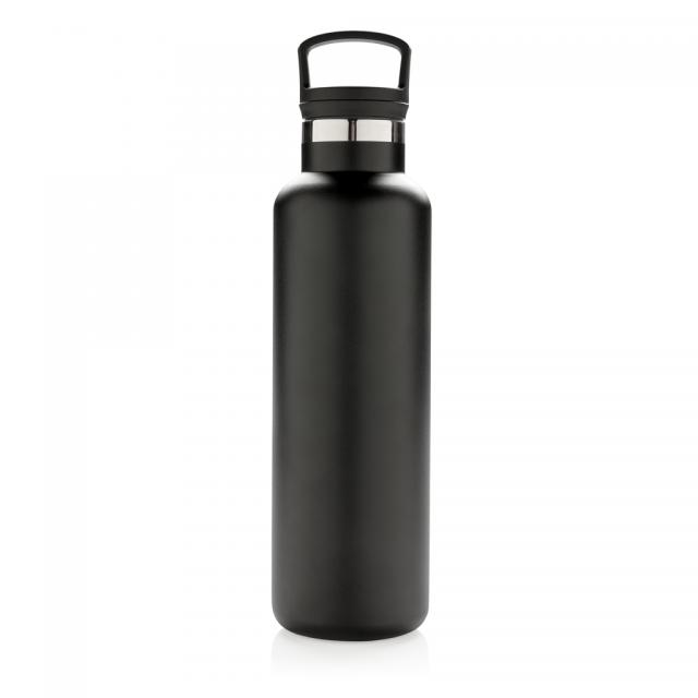 Auslaufsichere Vakuumflasche schwarz | Digitaldruck