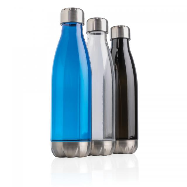Auslaufsichere Trinkflasche mit Stainless-Steel-Deckel
