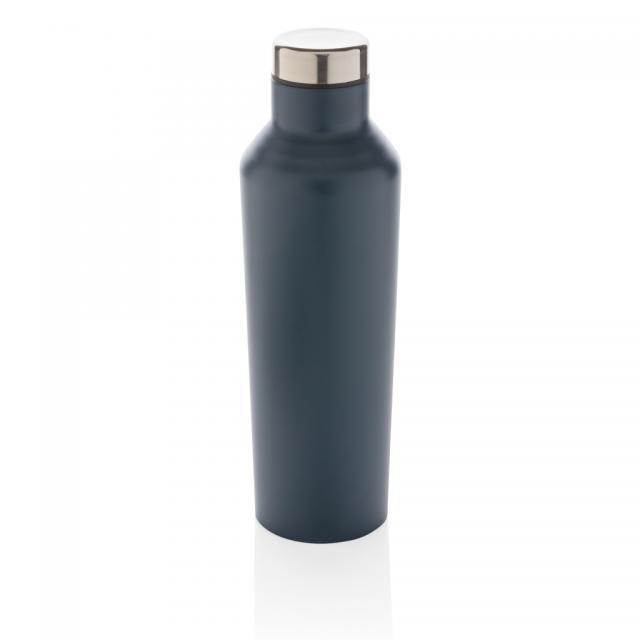 Moderne Vakuum-Flasche aus Stainless Steel blau | Digitaldruck
