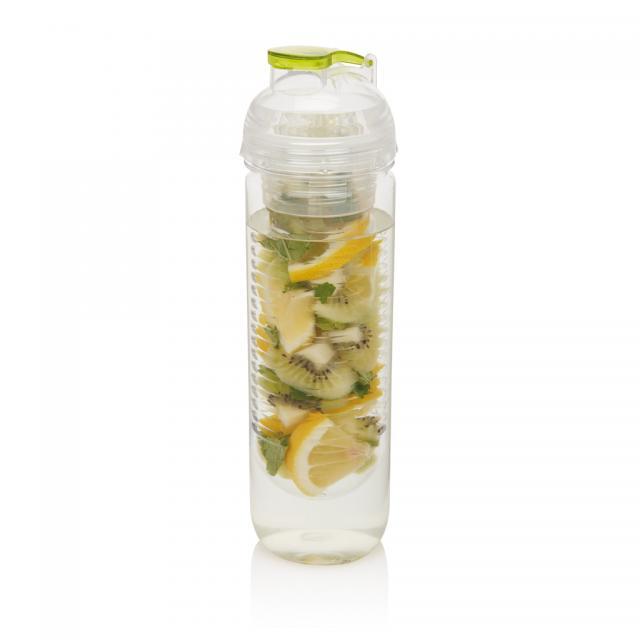 Wasserflasche mit Aromafach grün | Unbedruckt