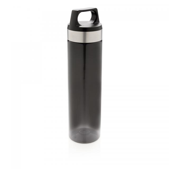 Auslaufsichere Tritan Flasche schwarz | Unbedruckt