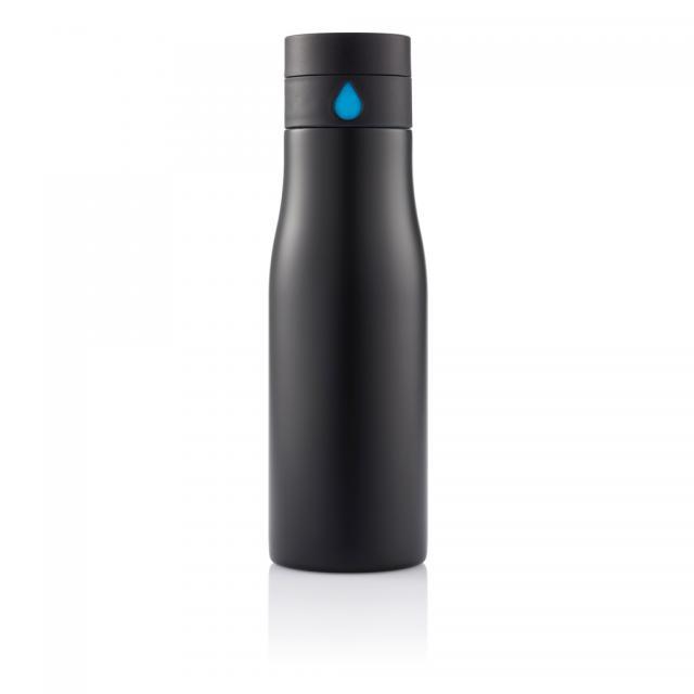 Aqua Auslaufsichere Hydration Flasche schwarz, blau | Unbedruckt