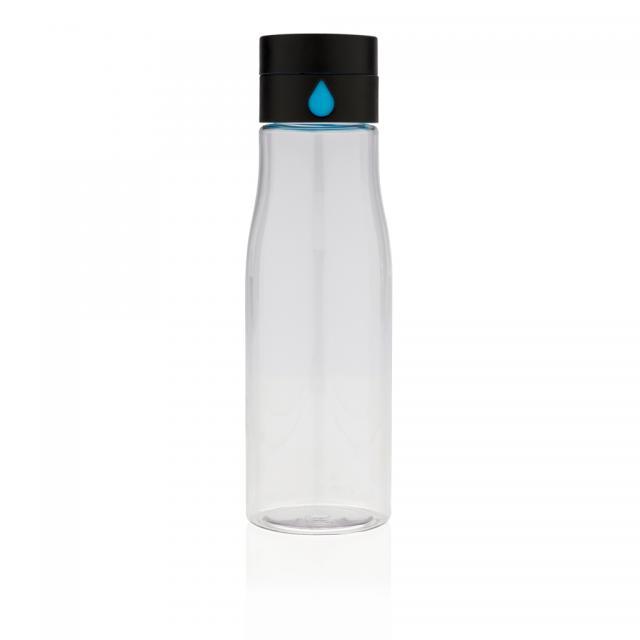 Aqua Hydration-Flasche transparent | Siebdruck, 1-farbig