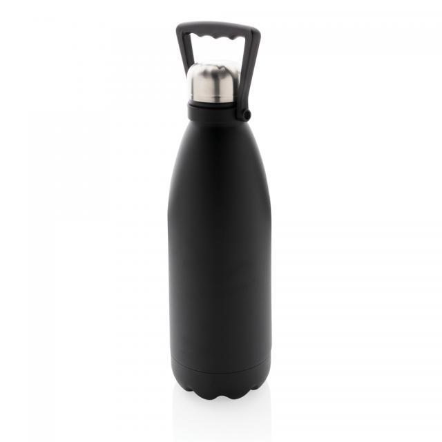 Große Vakuum Stainless Steel Flasche 1,5L schwarz | Unbedruckt