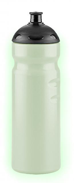 Nachleuchtende  Trinkflaschen 750 ml schwarz | Unbedruckt