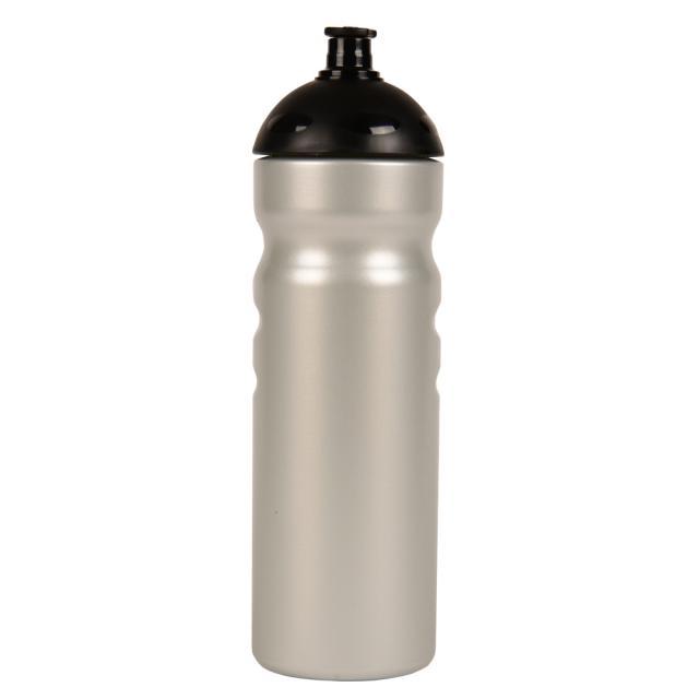 "Fahrrad-Trinkflasche ""Fitness"" 750 ml silber | Siebdruck, 3-farbig"