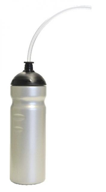Trinkschlauchflasche 750 ml silber | Unbedruckt